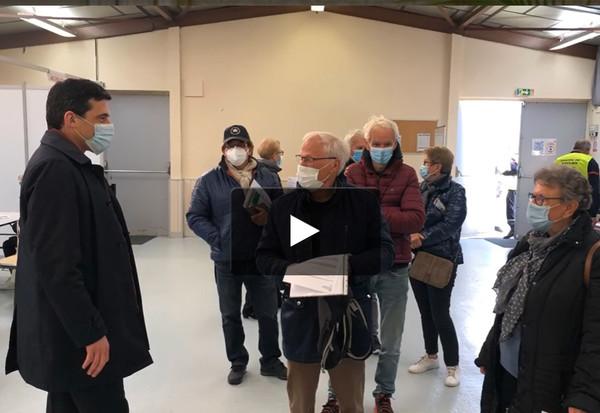 Ouverture du centre de vaccination de Noron