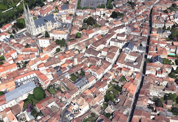 Vue aérienne de la colline Saint André