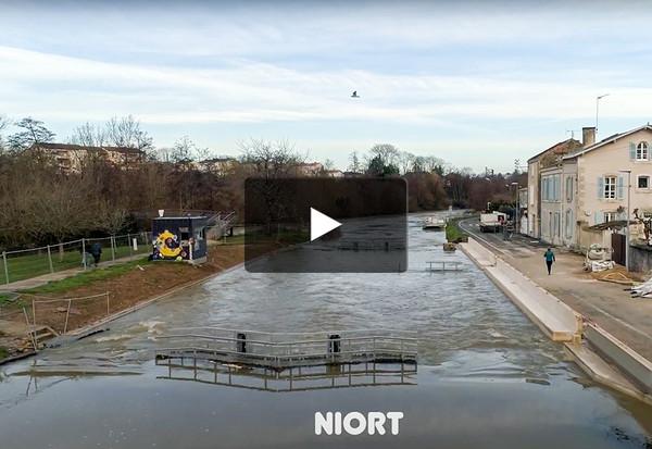 Inondations depuis un drone
