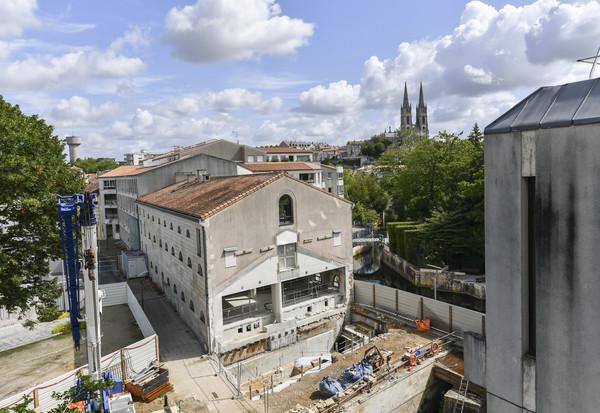 Visite de chantier à la médiathèque de Niort