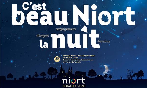 C'est beau Niort la nuit