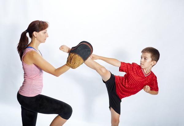 Arts martiaux en famille