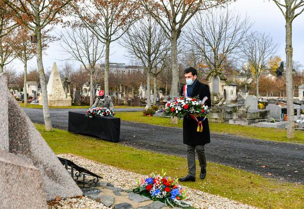 ceremonie nationale d'hommage aux Morts pour la France pendant la guerre d'Algerie et les combats du Maroc et de la Tunisie.